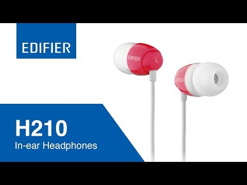 Edifier H210 Budget Earphone for Quality Sound - (White/Black/Blue/Red)