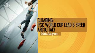 Upcoming Event Trailer - IFSC Climbing World Cup Arco 2017 - LEAD & SPEED by International Federation of Sport Climbing