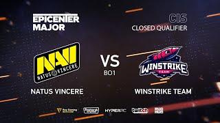 Natus Vincere vs Winstrike, EPICENTER Major 2019 CIS Closed Quals , bo1 [Adekvat & Smile]