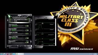 Легкий разгон с MSI - Глава 3 (Интерактивное руководство по MSI Afterburner)