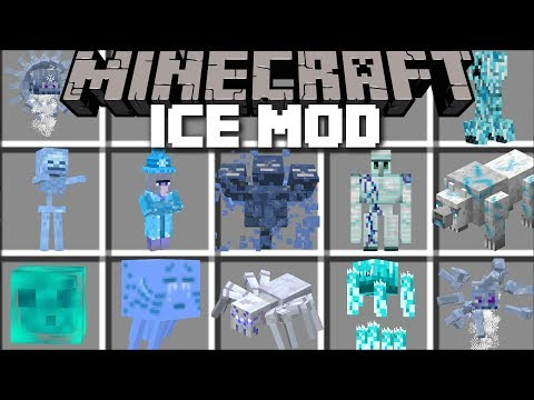 Minecraft ICE MOBS MOD / SURVIVE THE FROZEN LANDS WITH DANGEROUS MOBS!! Minecraft (видео)