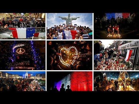 Παγκόσμιο κύμα αλληλεγγύης στον γαλλικό λαό