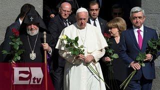 Papa Francisco reza ante memorial del genocidio en Armenia Ricardo Salas