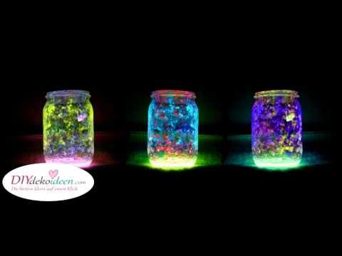 DIY Deko - leuchtende Marmeladengläser (DIY Fairy Glow Jars)