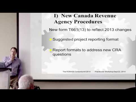 1) New Canada Revenue Agency Procedures