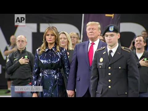Trump cheered at National Championship game