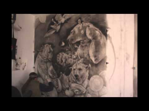 khare - This video is a time-lapse showing the process in which Adonna Khare's drawings come together. Overall the size is 8ft tall by 12ft wide carbon pencil on pap...