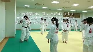 柔道整復科1年生 柔道実技授業の様子
