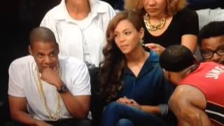 LeBron James Stares Down Beyonce and Jay Z