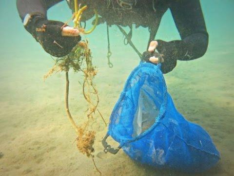 Dieci chili di rifiuti raccolti sui fondali di Ventotene
