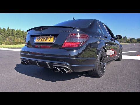 Mercedes C63 AMG with iPE exhaust