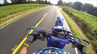 10. 2004 Yamaha WR450 Supermoto Wheelies