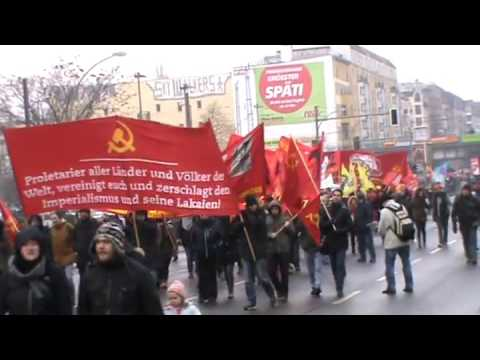 Berlin 2016: Lenin-Liebknecht-Luxemburg Demonstrati ...