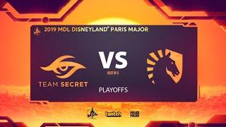 Team Secret vs Team Liquid, MDL Disneyland® Paris Major, bo5, game 2 [Smile & Adekvat]