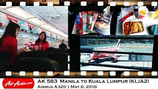 Video FLIGHT REVIEW Air Asia AK 583 Manila to Kuala Lumpur Airbus A320 MP3, 3GP, MP4, WEBM, AVI, FLV Agustus 2018