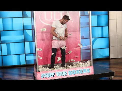 Justin Hartley Plays 'Stuff Your Boxers'