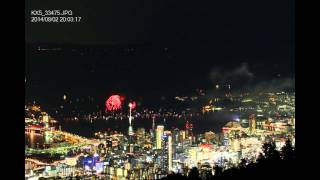みなとこうべ海上花火大会2014  (タイムラプス)