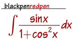 Sect 5 5 #40, Integral sin(x)/(1+cos^2(x))