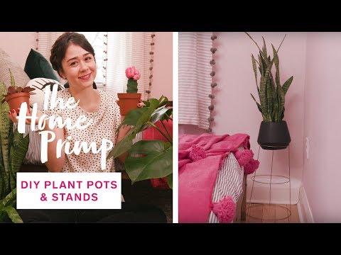 How To DIY Indoor Plant Pots & Stands | The Home Primp