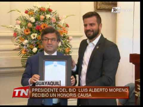 Presidente del BID Luis Alberto Moreno recibió un Honoris Causa