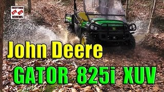 1. John Deere Gator 825i XUV OFF-ROAD Test Review: The Comp: Polaris Ranger-Brutus, Honda Pioneer, RTV