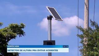 Sorocaba: detector de altura ajuda a evitar que caminhões fiquem 'entalados' em pontilhão