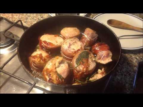 filetto di maiale con speck e cipollotti brasati - ricetta