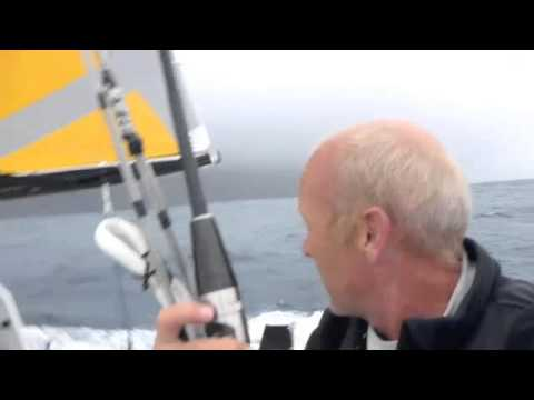 Mike Golding & Gamesa Race Past Tristan da Cunha