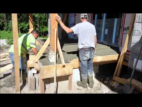 Basement, Garage and Front Porch concrete pour