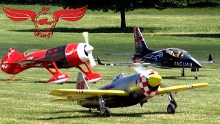 The team of RC Wings from the Netherland showing their great models at the international Rc model airshow at Weston Park 2017Pilots:Danny van Vugt - http://www.rc-wings.comNick BruschkeErwin HufnerModel data: P-47 Thunderbolt Air RacerScale: 1/4 Wingspan: 2.8m (chipped)Lenght: 2.9 mWeight: 37.8Kg / 83 poundsKit: Selfmade by Franz ObenaufEngine: Moki 400cc 5 Cyl.RadialGears: Rob SchillerExtras: Air-Racer Design - Smoke & LightsGeeBee R3Wingspan: 3 mLenght: 3 mWeight: 23.5 KgEngine: Moki 300cc 5 Cyl.RadialKit: AirworldViper JetScale: 1/2.8Wingspan: 3.48 mLenght: 3 mWeight: 23 kgTurbine: Kingtech 120Kit: Tomahawk Design----------------MUSIC:Forever Believe by Audionautix is licensed under a Creative Commons Attribution license (https://creativecommons.org/licenses/by/4.0/)Artist: http://audionautix.com/
