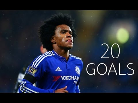 Willian Borges - First 20 Goals For Chelsea FC - HD