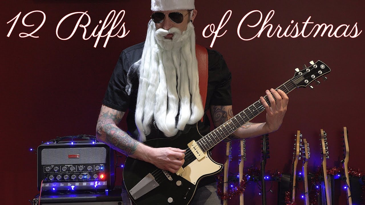 Christmas in the style of 12 Guitar legends including Yngwie, Setzer and Brian May
