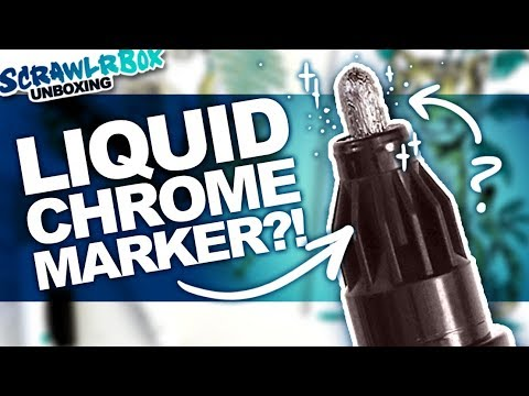 And Trying To Draw Tigers! | Mystery Art Box | Scrawlrbox Unboxing | Molotow Liquid Chrome Marker
