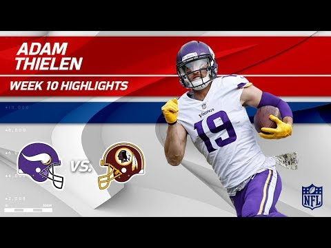 Video: Adam Thielen's 8 Catches & 166 Yards vs. Washington! | Vikings vs. Redskins | Wk 10 Player HLs