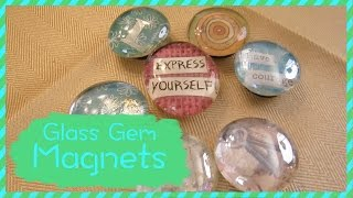 How To Make Glass Gem Magnets - YouTube