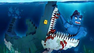 Minecraft Laboratory - I KILL JAWS THE GIANT MEGALODON SHARK! (Minecraft Roleplay)
