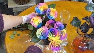 Download Lagu Easy way to make rainbow roses Mp3