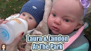 Reborn Babies Laura and Landon Go To The Park! Reborn Skit | Kelli Maple