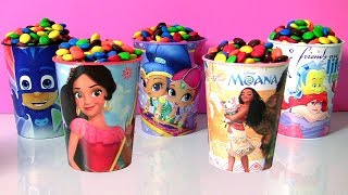 M&M Cup Surprise Toys Disney Princess Shimmer and Shine Genie Toys
