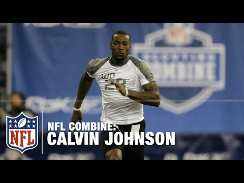 Video: Calvin Johnson's 40-Yard Dash in 2007 | NFL