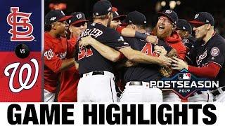 Nationals clinch first World Series trip! | Nationals-Cardinals MLB Highlights