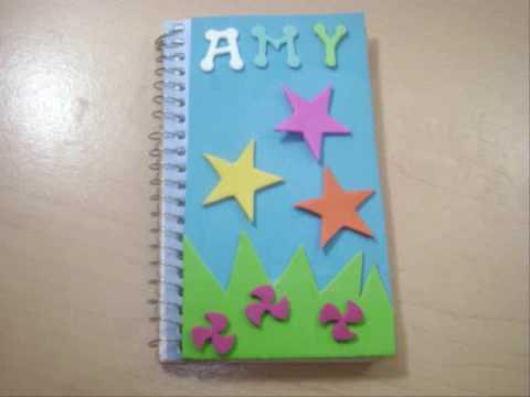 Decorar Cuadernos y Libros Escolares | Manualidades Hoy |