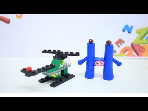 Coco Train LEARNING LETTER H - Clay & Play Doh Cartoons For Kids