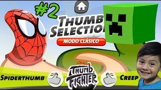 Thumb Fighter Gameplay | Pelea de Pulgares con Spiderman y Minecraft | Juego para niños