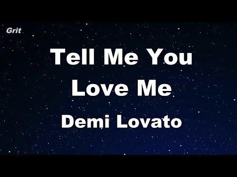 Tell Me You Love Me - Demi Lovato Karaoke 【No Guide Melody】 Instrumental