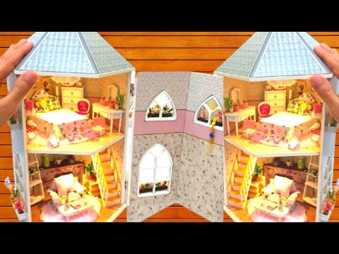 Diy Miniature Dollhouse Rapunzel Tower With Bedroom And Living