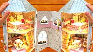 Video DIY MINIATURE DOLLHOUSE ~ RAPUNZEL TOWER with BEDROOM and LIVING ROOM MP3, 3GP, MP4, WEBM, AVI, FLV September 2019