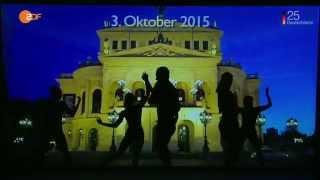 Schattentheater zu 25 Jahren Deutsche Einheit