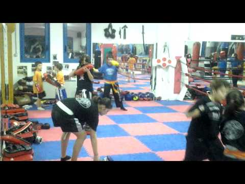 Allenamento kickboxing junior 2012