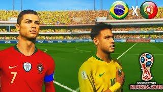 Video Brasil x Portugal - Semifinal - PES 2018 - Copa do Mundo #06 MP3, 3GP, MP4, WEBM, AVI, FLV Desember 2018